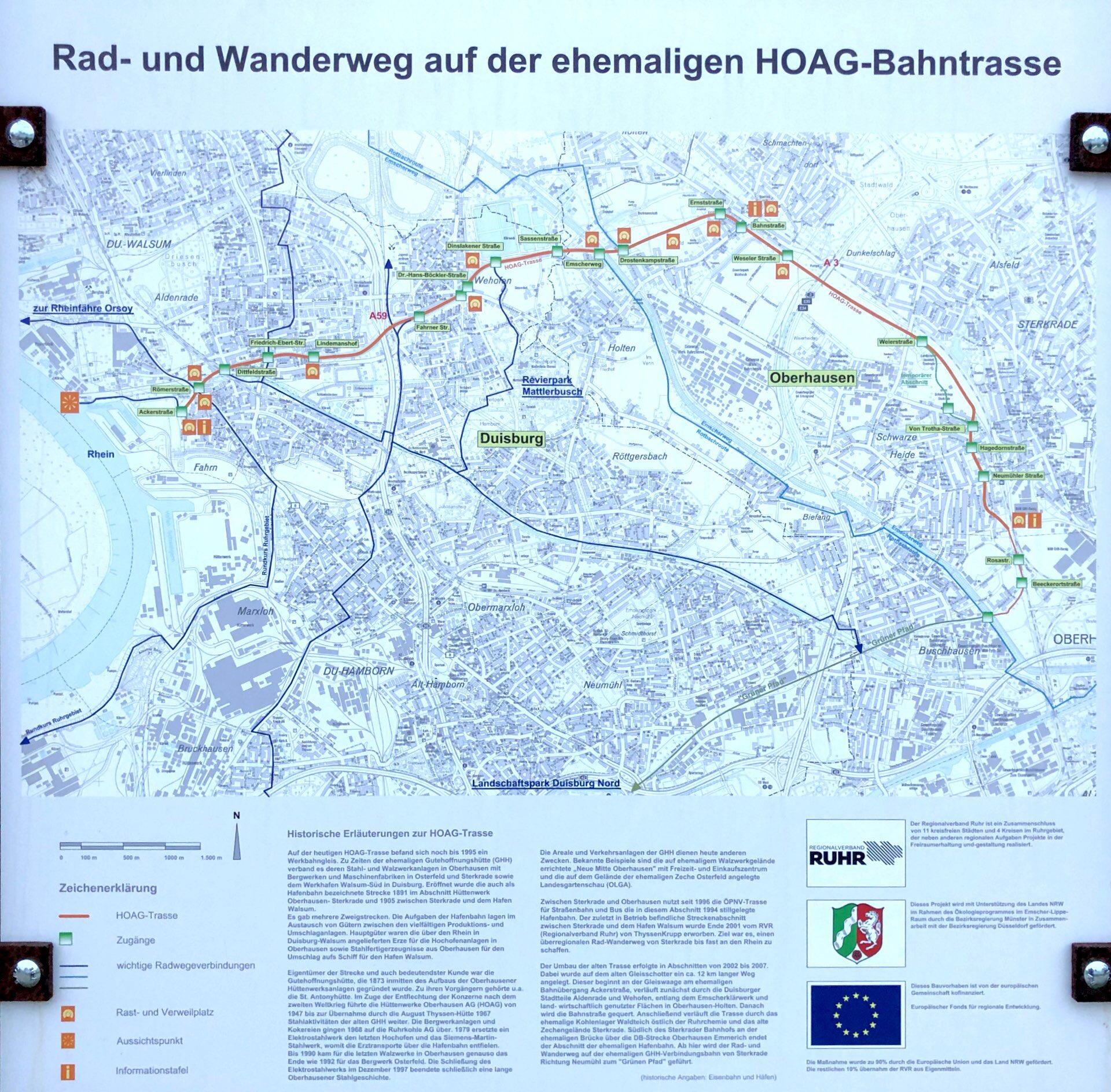 HOAG-Trasse Karte Metropole Ruhr