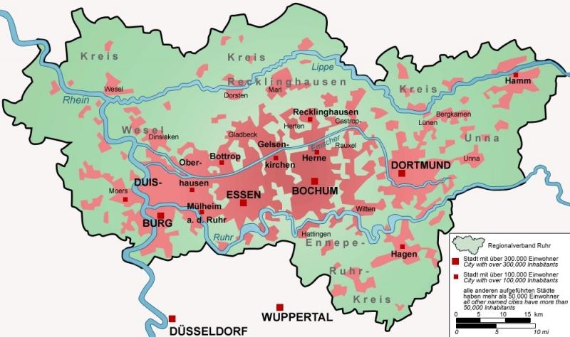 Ruhrgebiet RVR Karte Wikipedia