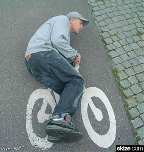 Bicycle Pics Radweg liegend
