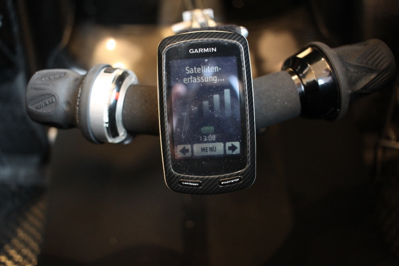 Velomobil DF Garmin Edge 800