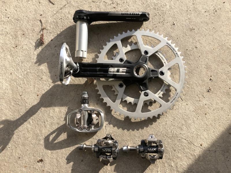 Velomobil DF Rotor Kurbel XTR Pedale