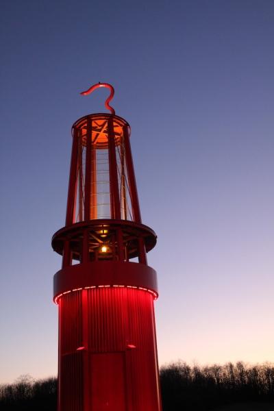 Geleucht Halde Rheinpreussen Rotlicht
