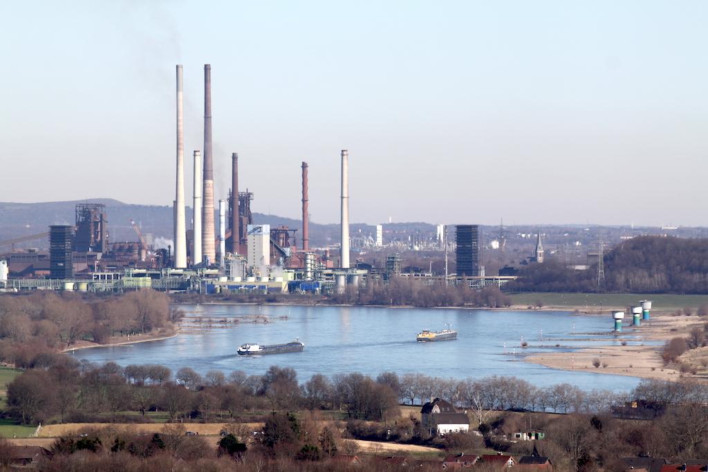 Geleucht Halde Rheinpreussen Stahlwerk Thyssen