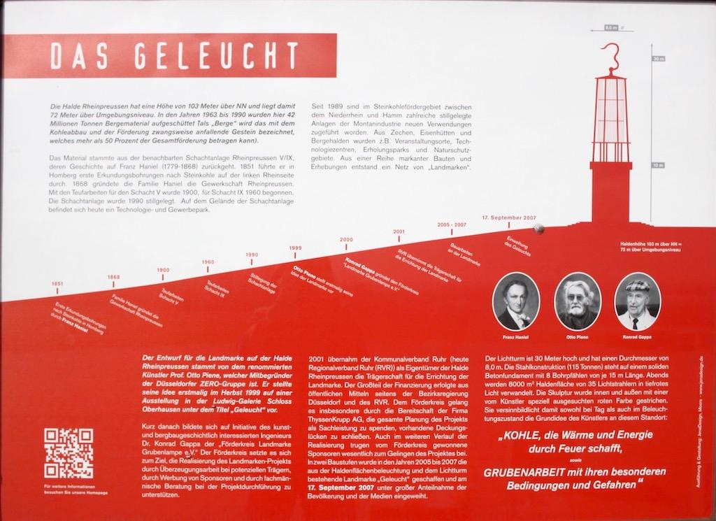 Das Geleucht Halde Rheinpreußen Infotafel 2