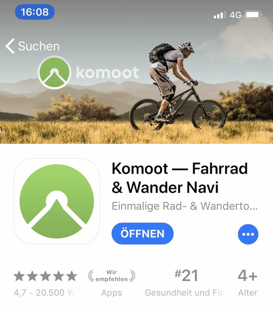Komoot AppStore