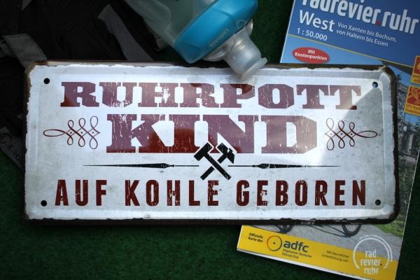 Nostalgie Schild Ruhrpott Kind