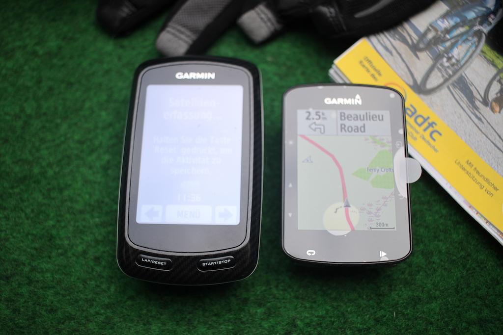 Garmin Edge 520 plus vs 800 front