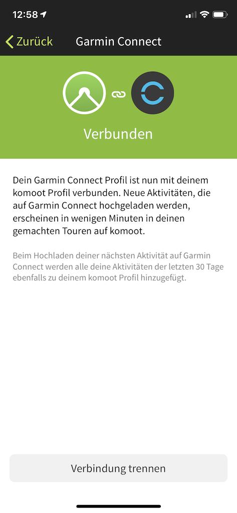 Komoot Garmin Connect