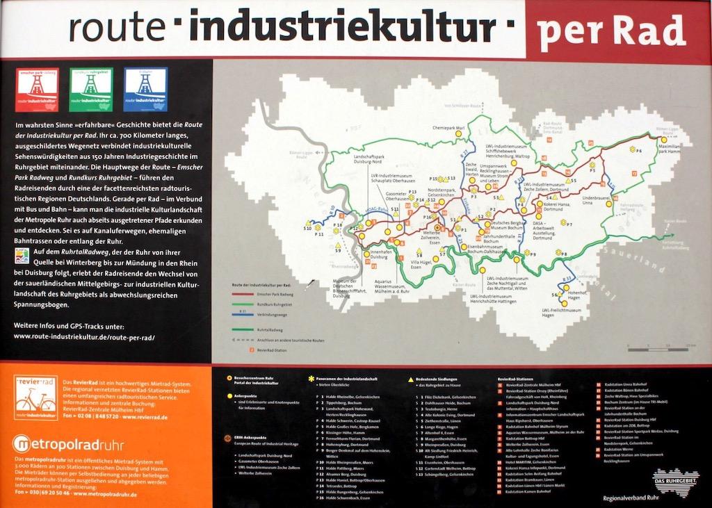 Infotafel Route Industriekultur per Rad