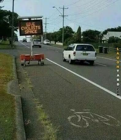 Cycling Fun Give cyclists space