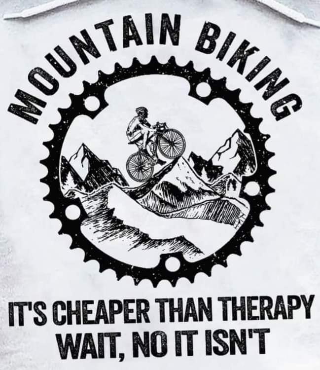 Cycling Fun Mountain Biking is cheaper than therapy