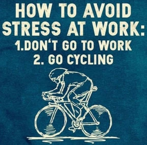 Cycling Fun avoid stress at work