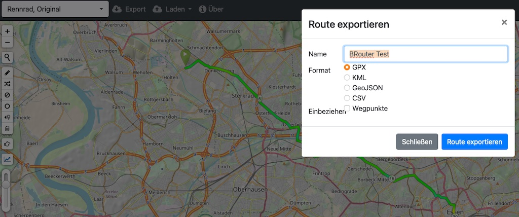 BRouter Export