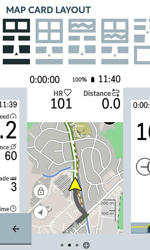Karoo Settings Profiles Map Card Layout